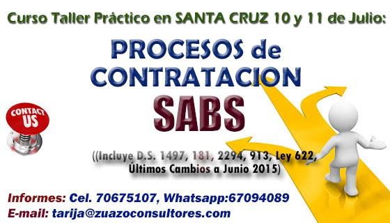 PROCESOS DE CONTRATACIÓN SABS en SANTA CRUZ