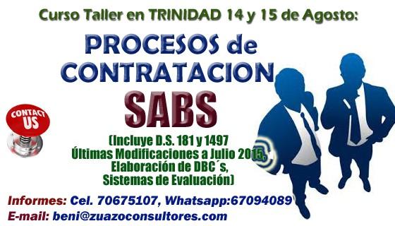 Curso Taller SABS en Trinidad 14 y 15 de Julio