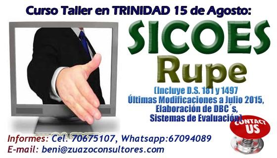Curso Taller SICOES-RUPE en TRINIDAD 15 de Agosto