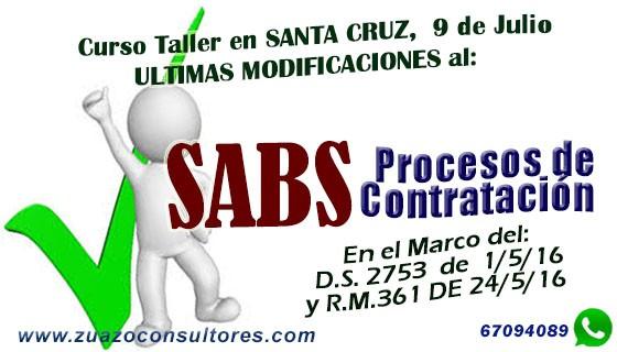 Curso Taller Últimas Modificaciones al SABS en SANTA CRUZ 9 de Julio: