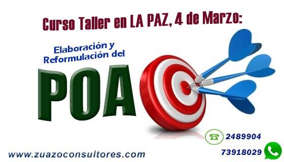 Curso Taller en La Paz el 4 de Marzo: