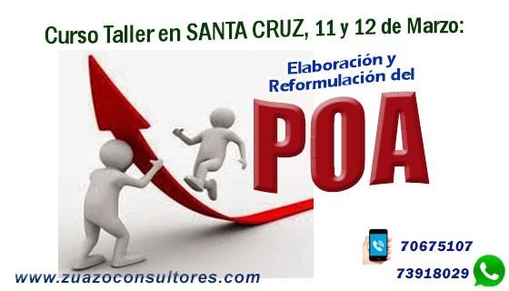 Curso Taller en Santa Cruz 11 y 12 de Marzo: