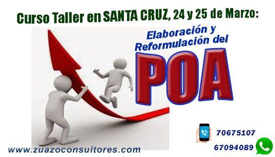 Curso Taller en Santa Cruz 24 y 25 de Marzo: