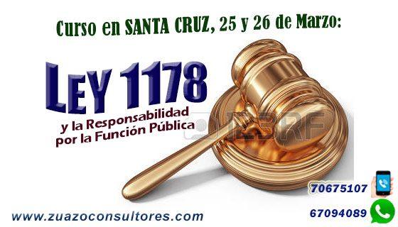 Curso en Santa Cruz 25 y 26 de Marzo: