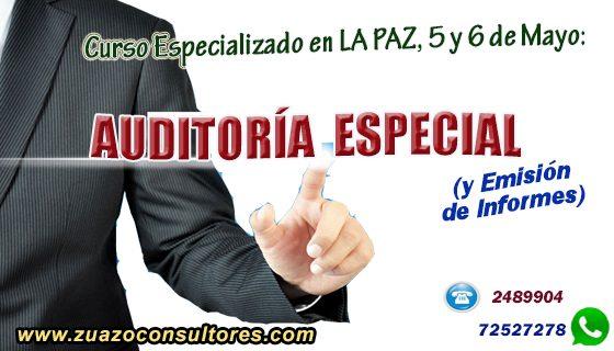 Curso Especializado en LA PAZ, 5 y 6 de MAYO: