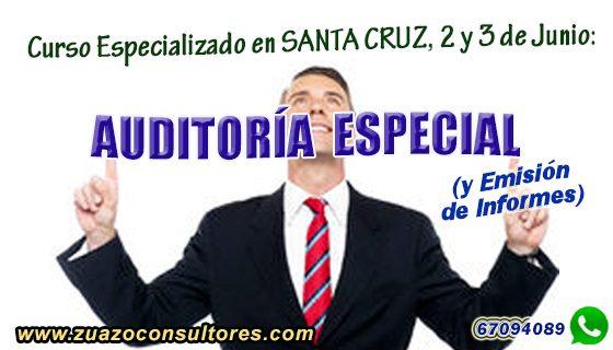Curso Especializado en SANTA CRUZ, 2 y 3 de JUNIO: