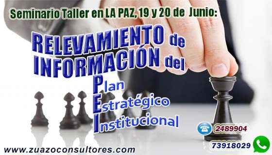 Seminario Taller en LA PAZ 19 y 20 de Junio: