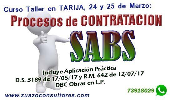 Curso Taller en TARIJA 24 y 25 de Marzo: